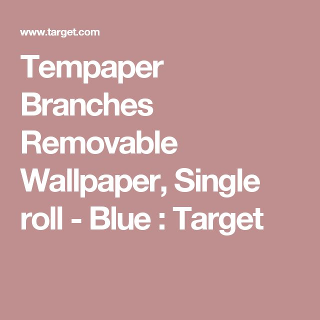 Tempaper Branches Removable Wallpaper, Single roll - Blue : Target