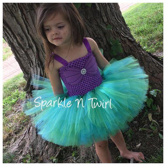 Vestido de sirena Ariel Tutu traje de sirena por SparkleNTwirl