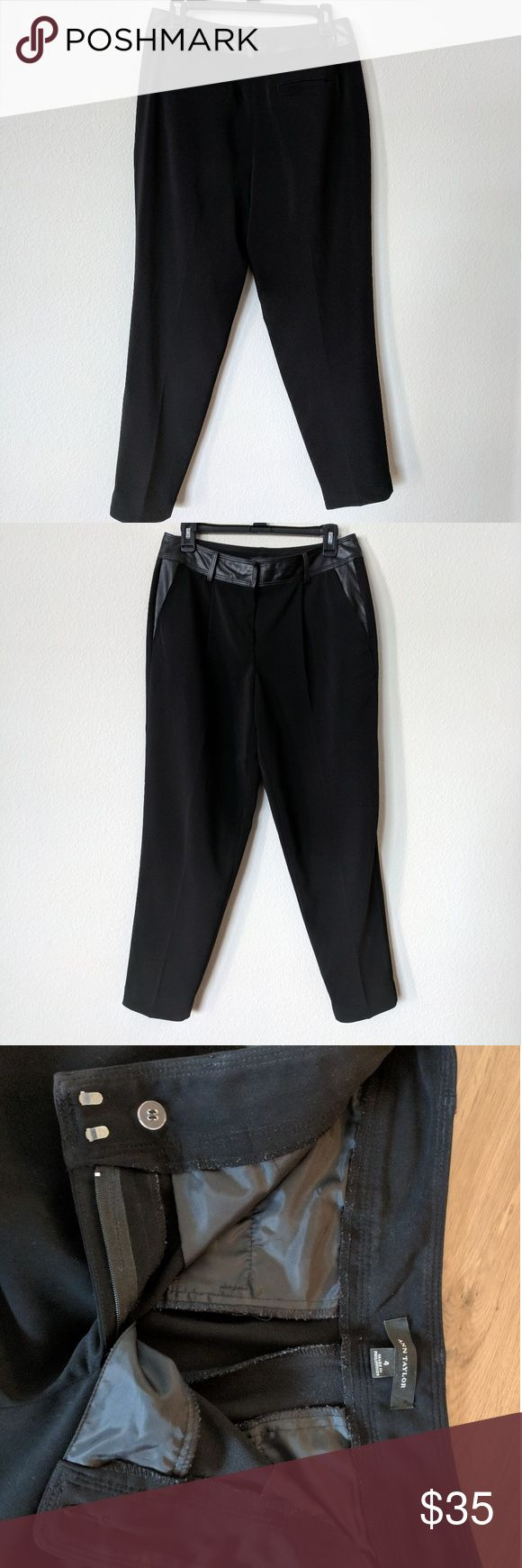Black dress pants, says size 4 fits like a 9 Ann Taylor, black slacks, stretchy material Ann Taylor Pants Trousers