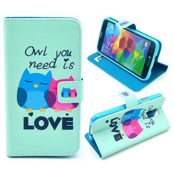 Owl you need is Love booktype voor Samsung Galaxy S5