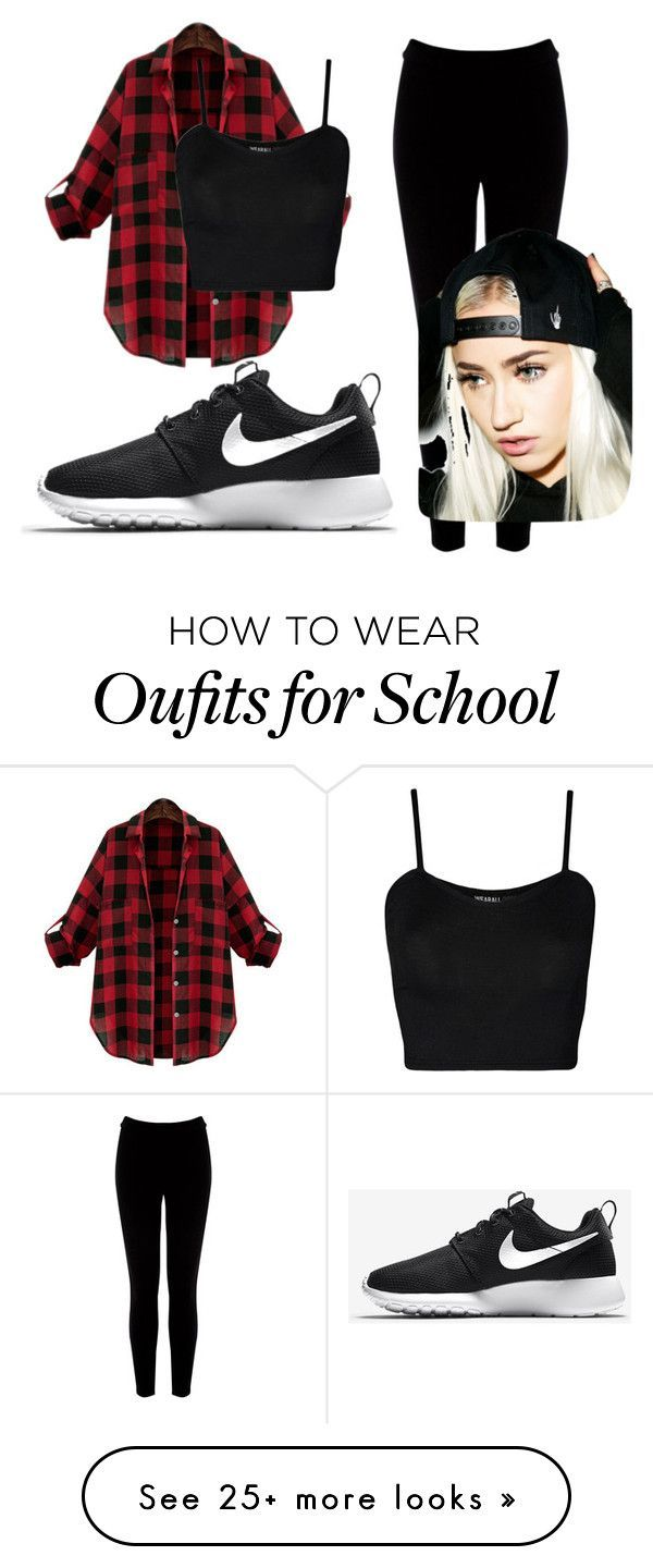 """""""Peprally for Walllace Middle school"""" by bossqween101 on Polyvore featuring WearAll, Warehouse, NIKE and Creep Street"""