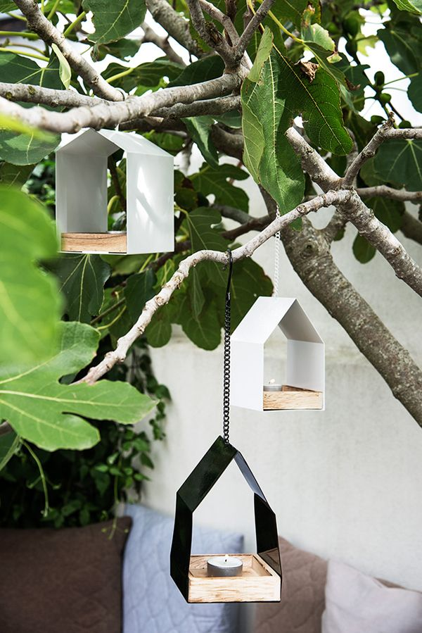 ❤️ hanging bird houses candle holders