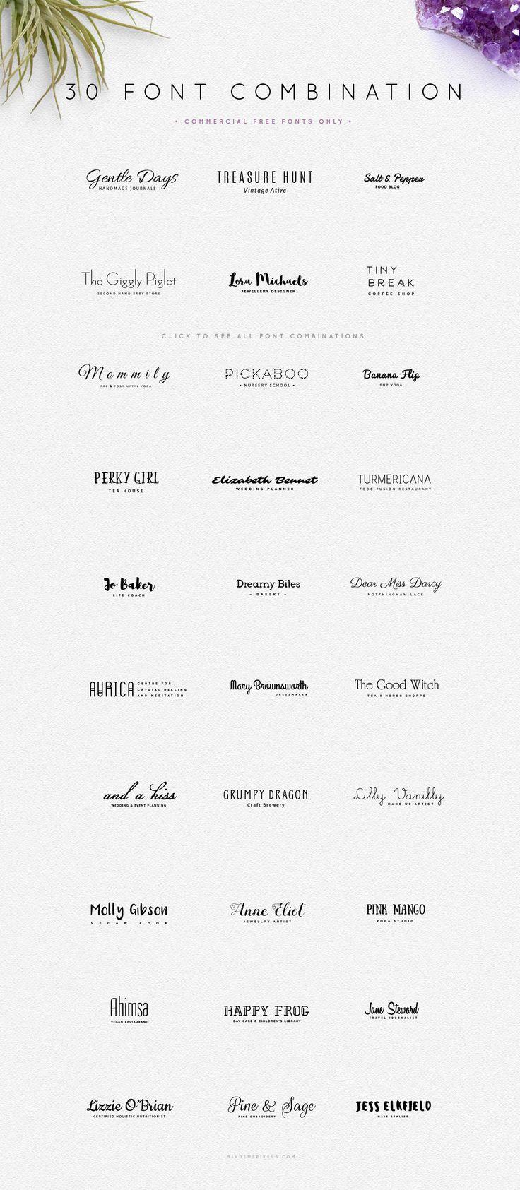 30 combinações tipográficas