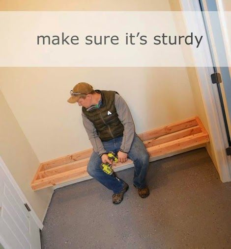easy and inexpensive way to make a sturdy entryway bench