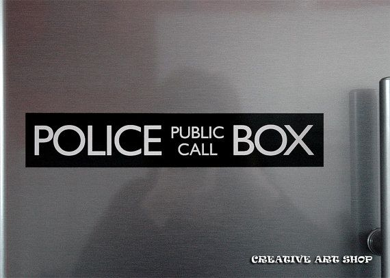 Inspired Doctor Who POLICE BOX magnet
