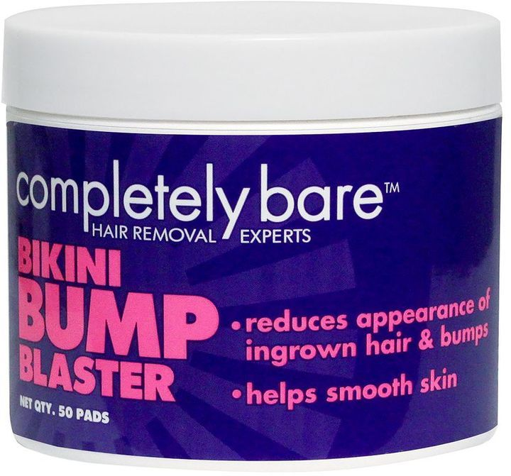 Completely Bare 50-pk. Bikini Bump Blaster Pads  $9.99 by Completely Bare at Kohl's  COPY LINK   FAVORITE        Available Colors: Available Sizes: DETAILS These Completely Bare bikini bump pads get rid of bumps and ingrown hairs while smoothing the skin. PRODUCT FEATURES Glycolic acid and salicylic acid prep the skin and clean the sebum Fresh citrus scent Includes: 50 pads