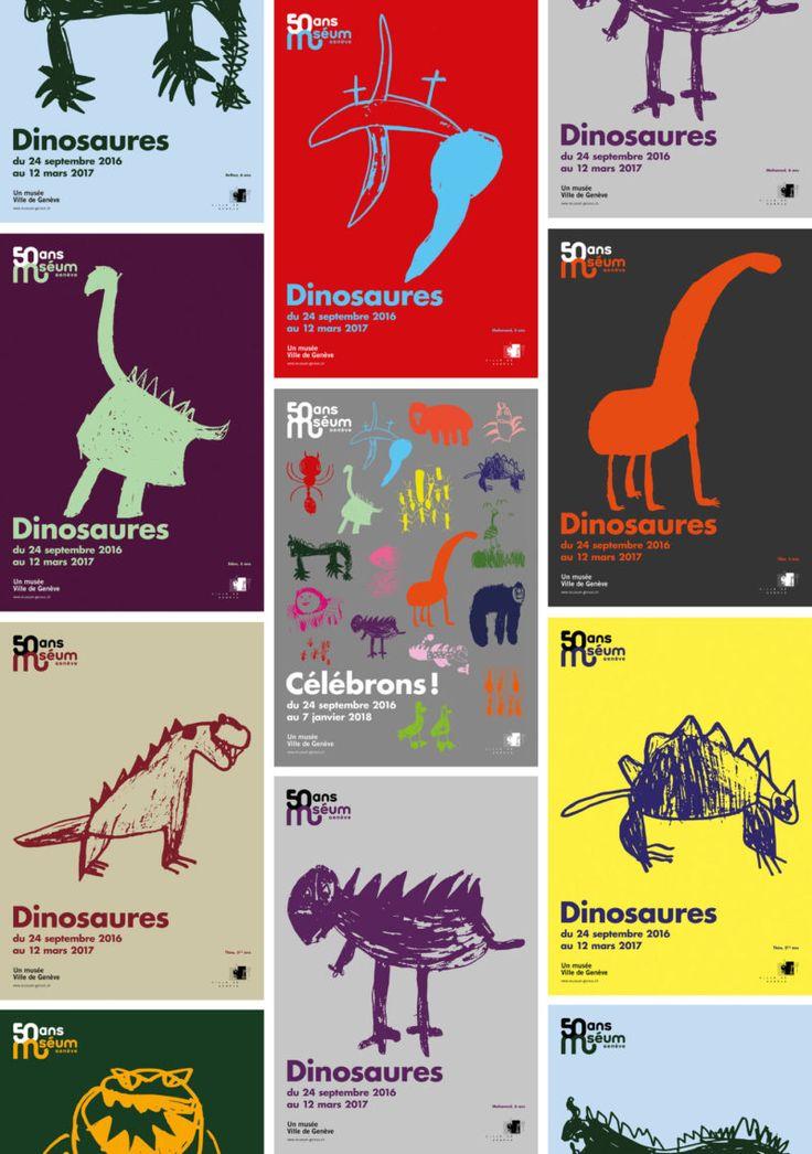 Des affiches grrrr pour les 50 ans du muséum de Genève - Graphéine - Agence de communication Paris Lyon