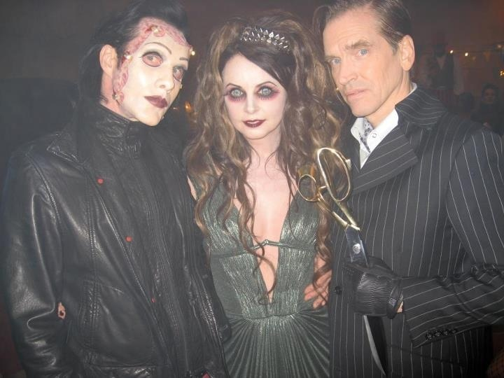 Behind the scenes from Repo! The Genetic Opera!: Ogre, Sarah Ruhlman and Bill Moseley. Smile and say CREEPY!