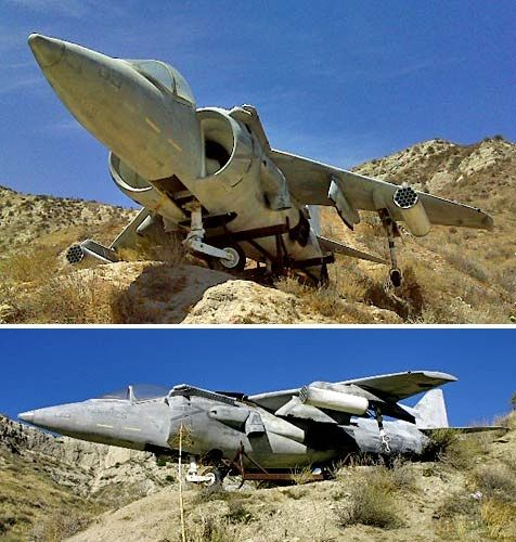 "7 Full-Scale Aircraft Replicas Used as Movie Props-From ""True Lies"""