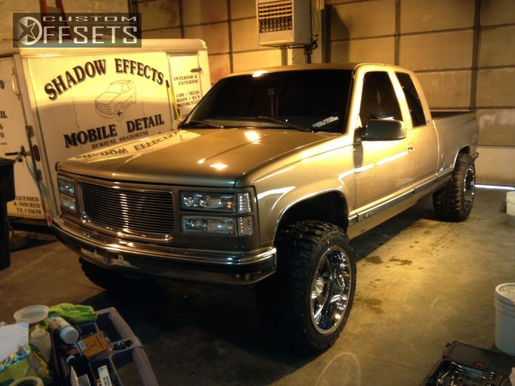 Wheel Offset 1997 Chevrolet C/k 1500 Series Super Aggressive 3 Leveling Kit Custom Rims