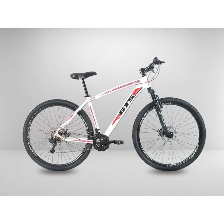 Foto 1 - Bicicleta Branca Aro 29 Gts M10 21v Disco Shimano Quadro 19