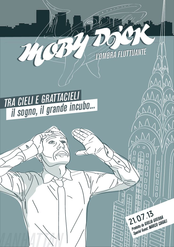 #poster #mobydick #manhattan #illustrazione #animationfilm #istitutodesignpalladio #giuliaguerra