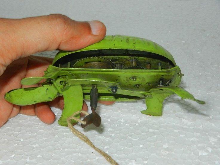 Vintage Wind Up Green Tortoise Turtle Litho Tin Toy Japan Germany | eBay