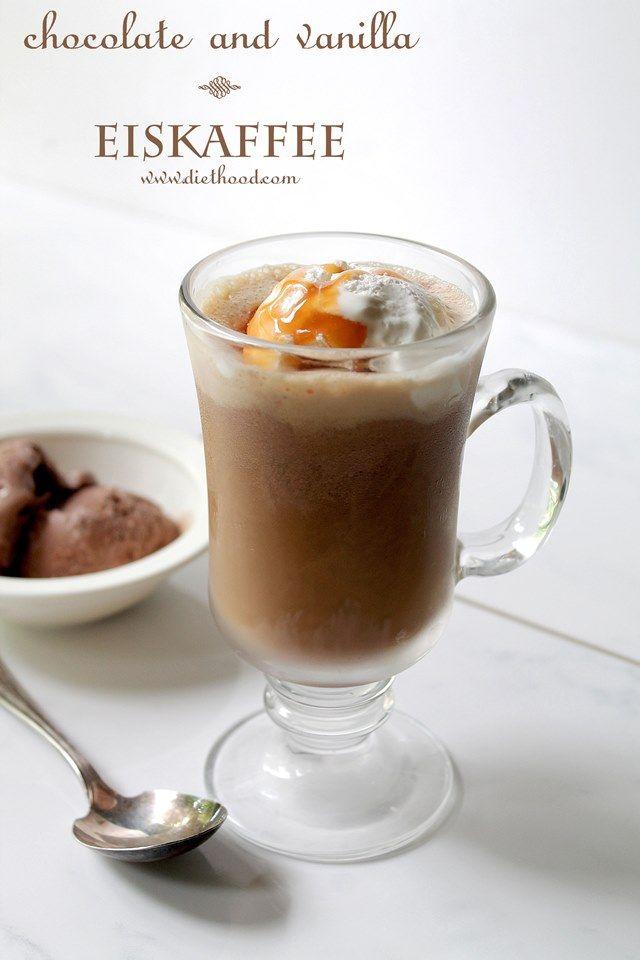 Chocolate and Vanilla Eiskaffee  (Eiskaffee is coffee over ice cream)   @Kate Petrovska | Diethood