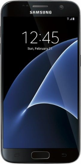 Samsung - Refurbished Galaxy S7 4G LTE with 32GB Memory Cell Phone (Unlocked) - Black onyx - Front Zoom