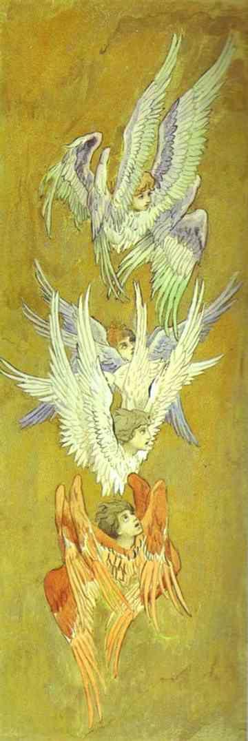 perfectnonfreedom:    Viktor Vasnetsov - Seraphs.    proginoskes, perhaps?