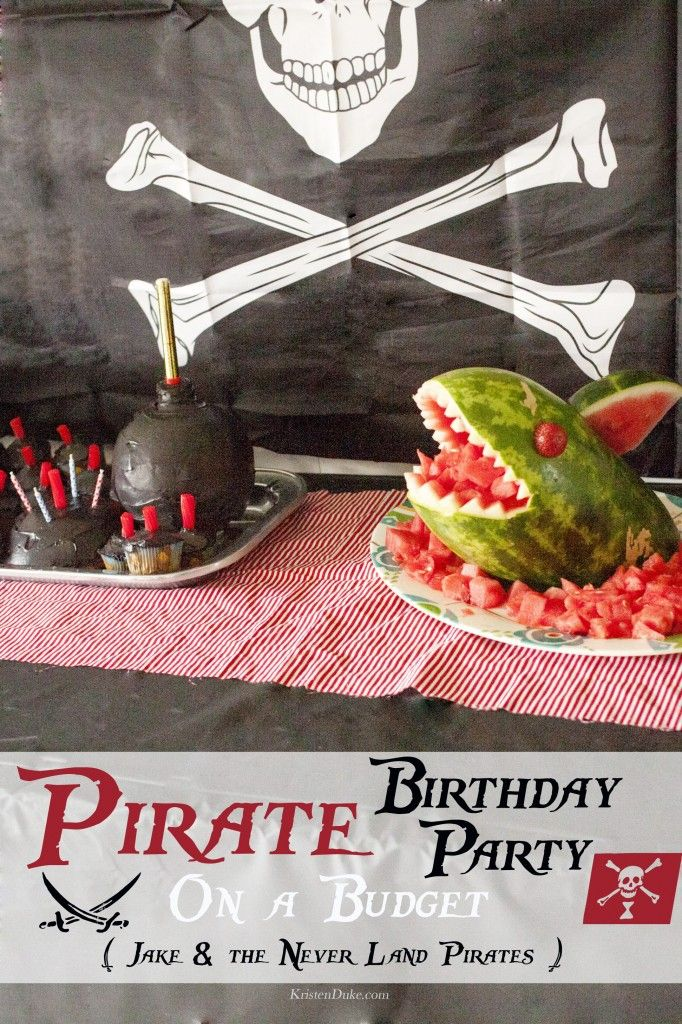 Pirate Birthday Party On a Budget {Jake & the Never Land Pirates}