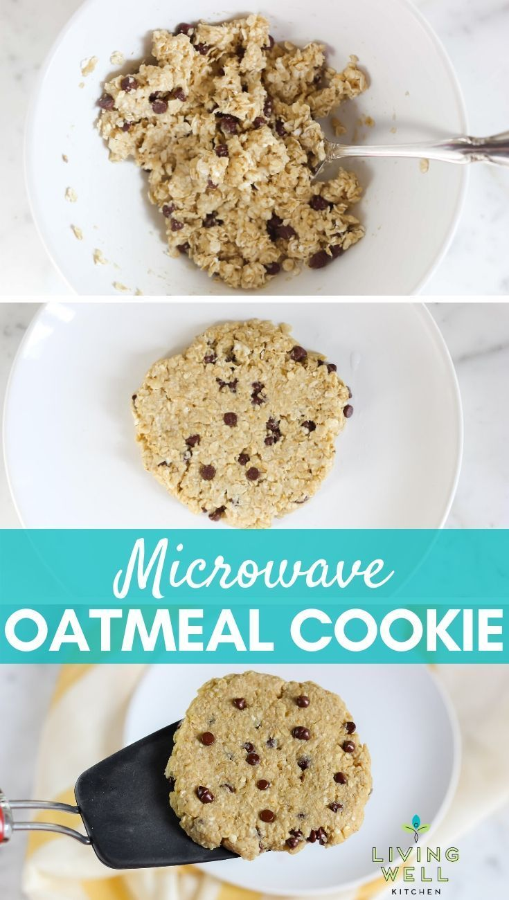 Five minute microwave oatmeal cookie with video recipe
