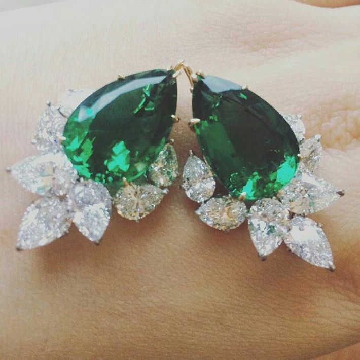 Another Stunning Emeralds and Diamonds Earrings