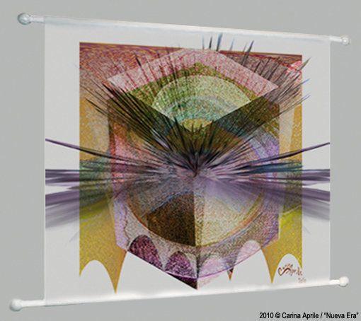 "Carina Aprile, ""NUEVA ERA"" Painting on Canvas"