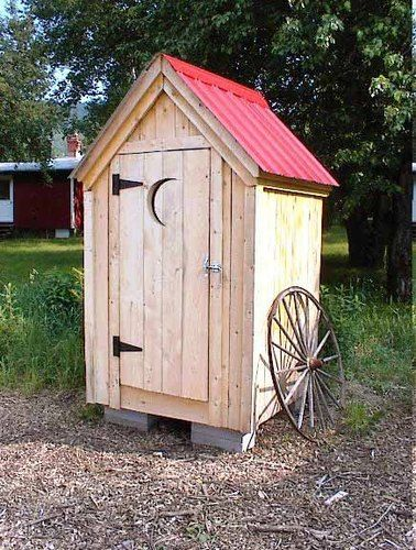 4x4 outhouse style shed garden outdoor backyard tool storage diy plans tool storage 4x4 and - Plans for garden sheds decor ...