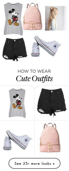 """""""Cute school outfit"""" by omq-kitkatt on Polyvore featuring Topshop, Converse and MICHAEL Michael Kors"""