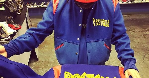 Kanye West Pastelle Varsity Jacket Varsity Jacket Fleece Jacket Jackets