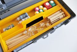 Crafty toolbox - great for carrying round the house.