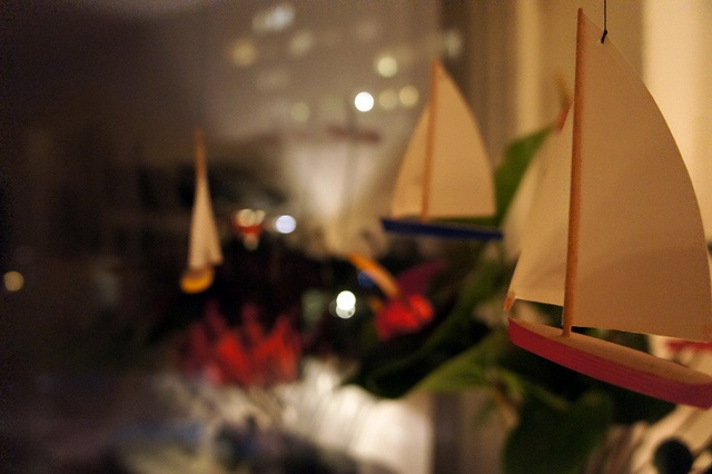 Boats in window  Boats in my friend Lenas window.     http://blogg.attefall.se