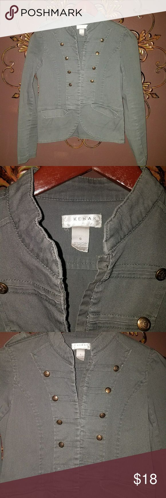 Military Cut Jacket Kenar Military Cut Jacket size Small Mild Peplum waistline Dark grey Kenar Jackets & Coats Utility Jackets