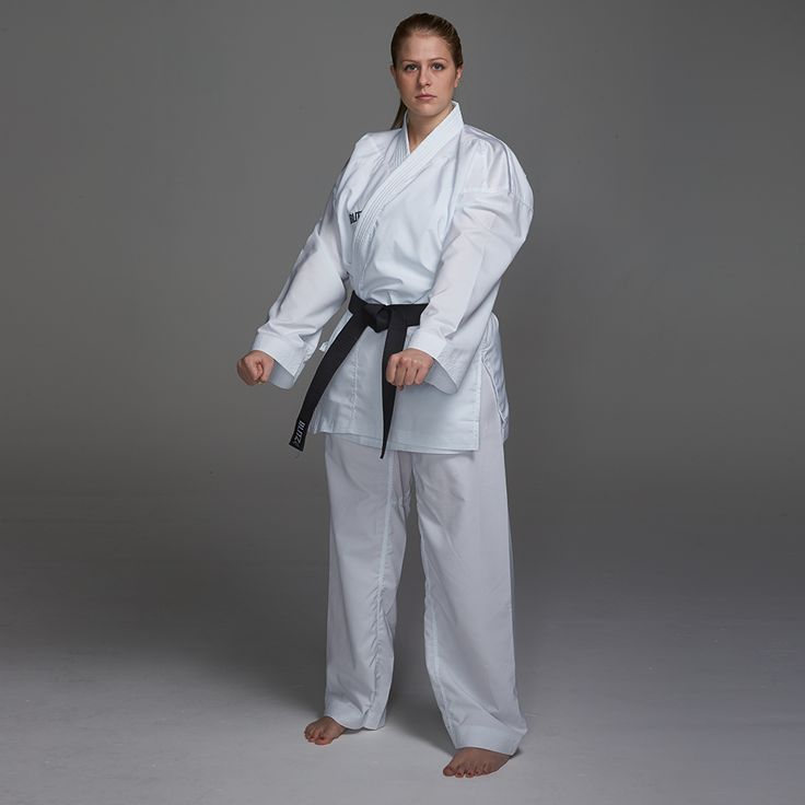 Our Fighter Lite Karate Suit is a lightweight 8oz, 100% polyester gi. With the latest moisture management technologies, this suit features ventilated shoulder, waist, hip, underarm and backside areas designed to draw moisture away from the skin and be of great use in hot climates. Kids and adult sizes available.