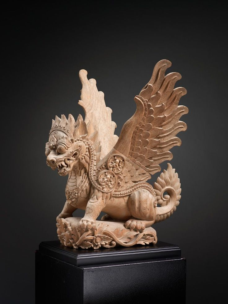 Singha Lion Mythical Beast 10917 Bali, Indonesia Wood Early 20th Century - Thomas Murray - Asiatica ethnographica