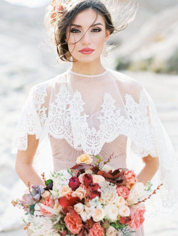 Bridal Cape, Bridal Capelet, Bridal Cover Up, Bridal Separates, Cape, Lace Capelet, Bridal Lace Cape #weddingdress #bridal #bridalfashion #weddinggown