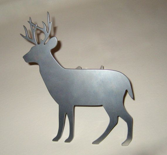 Deer Hitch Cover Trailer Receiver Painted Handmade Custom Metal Sign Art Plasma Cut