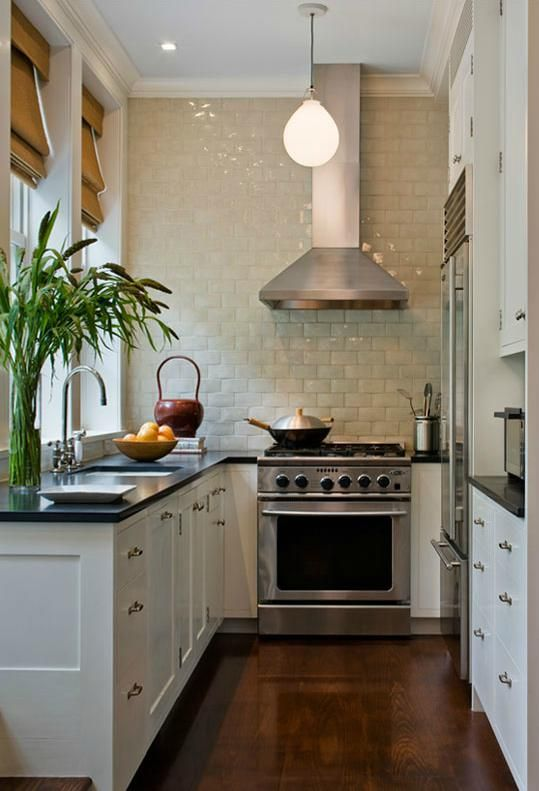 25 best ideas about long narrow kitchen on pinterest for Small narrow kitchen