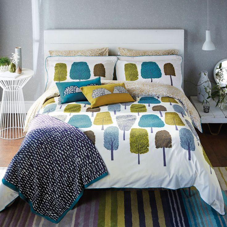 Scion Cedar Bed Linen | Modern Tree Print Bedding at Bedeck 1951