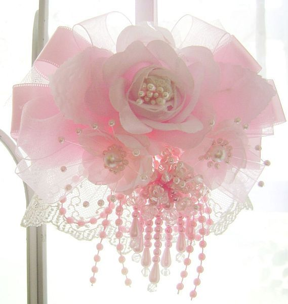 Romantic Pink Rose Ornament