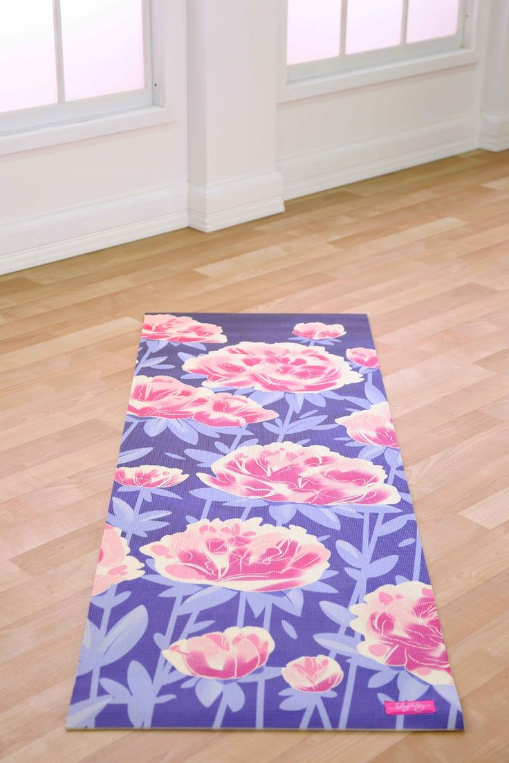 Always wanted a yoga mat, and this one has flowers on it! At the moment I stretch out on a towel which is not ideal.  Peony Garden Yoga Mat From Blogilates ($46, about £30)