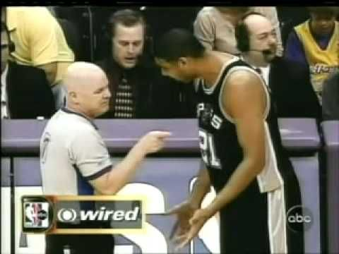 NBA referees wired - featuring Joey Crawford, Tim Duncan and others - YouTube