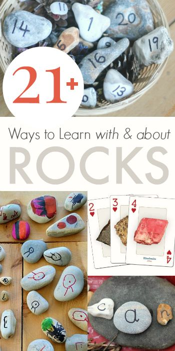 Make Learning Fun - 22 Ways to Learn with and About Rocks from @Jean Van't Hul :: The Artful Parent #creativekids #kidsactivities #kidsart