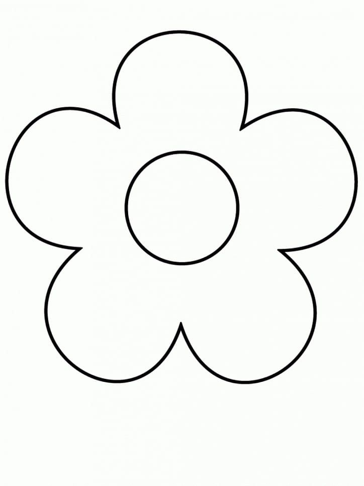 Easy Flower Coloring Pages In 2020 Simple Flower Drawing Flower