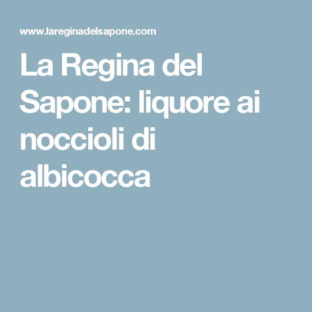 La Regina del Sapone: liquore ai noccioli di albicocca