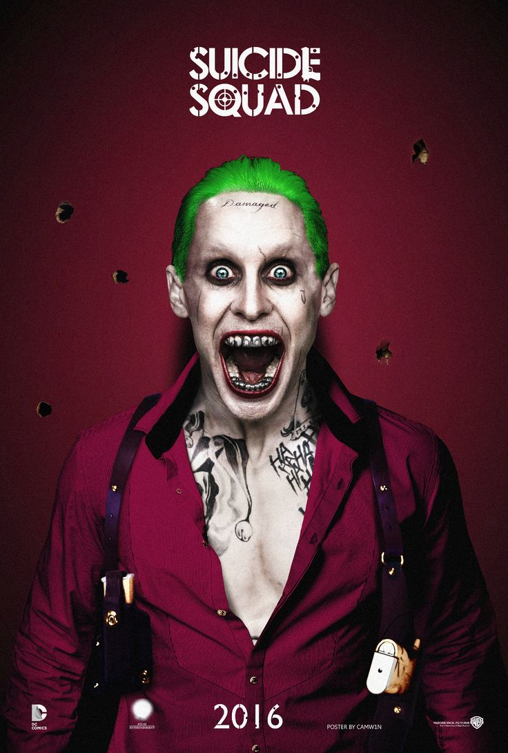Deadshot wallpaper galleryhip com the hippest galleries - Jared Leto As The Joker 3 Suicide Squad 2016 By Camw1n On