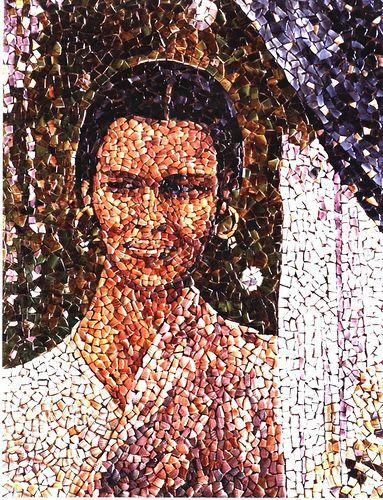 "mosaico-75  "" Etnia IV ""   (09-2003)   (60 x 45cm.)"