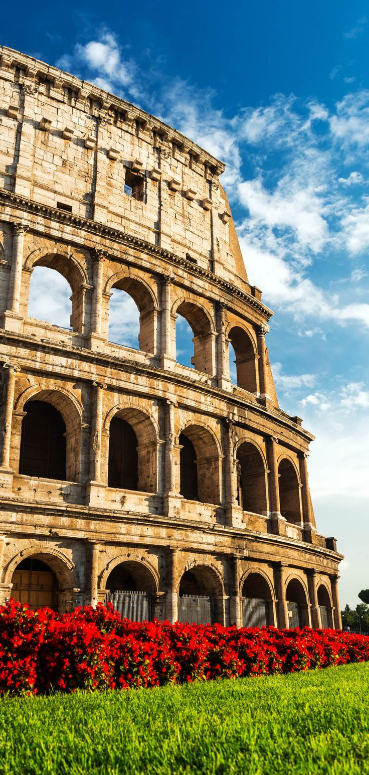 The Colosseum or Coliseum also known as Flavian Amphitheatre an elliptical amphitheatre built in 80AD is probably the most impressive building of the Roman Empire. Rome, Italy | 15 Most Colorful Shots of Italy