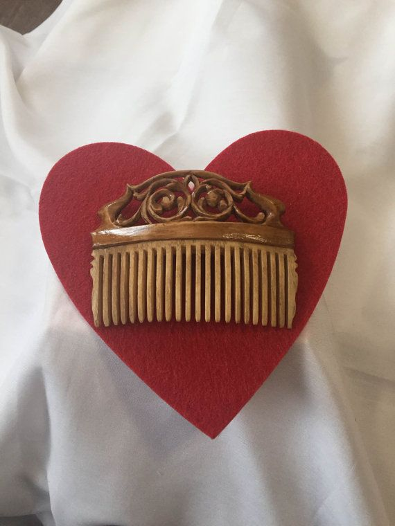 Exclusive Wooden Handmade Comb by karinaartgallery on Etsy