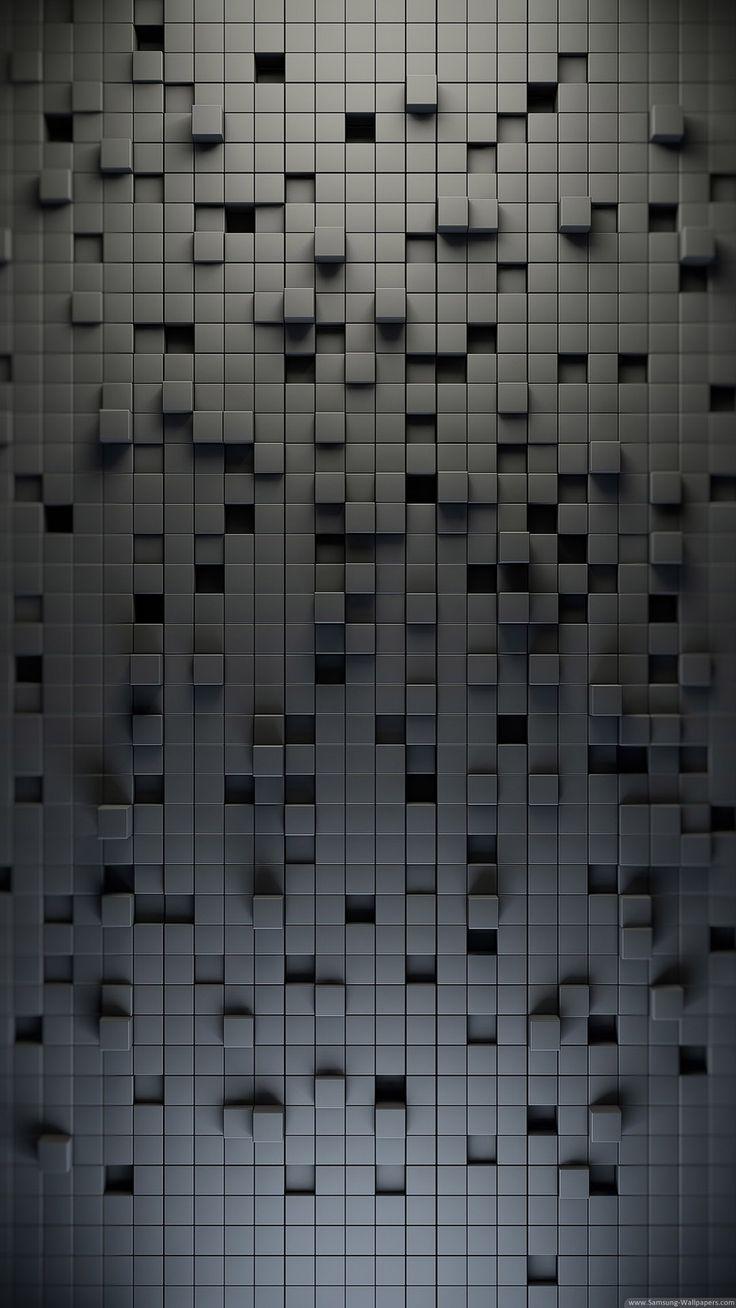 3D Black Lattice Pattern iPhone 6 Plus HD Wallpaper / iPod Wallpaper HD - Free Download