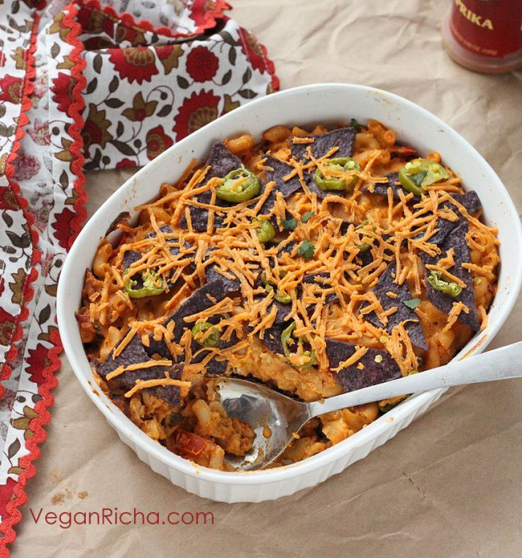 Nacho Mac and Cheese Casserole with Taco Tempeh victuals. Vegan Recipe ...