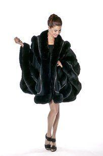 madisonavemall Cashmere Fox Fur Real Fur Fur Trim Fur Trimmed Cape