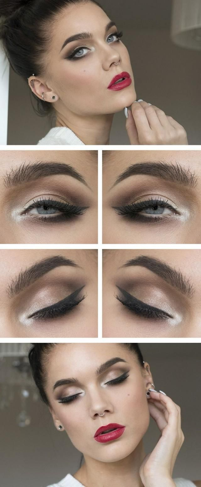 See more about winged eyeliner, makeup and red lips.